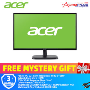 Acer 22-Inch EK220Q A Pure Eye Comfort Visioncare Monitor UM.WE0SM.A01