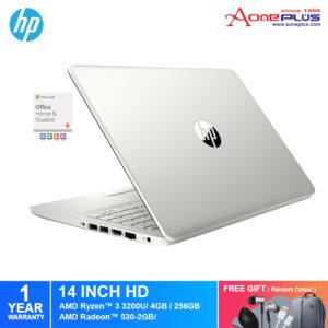 HP 14s-dk0022AX/ 14s-dk0024AX Notebook 1V857PA/ 3K129PA/ AMD Ryzen 3/4GB/256GB SSD/Radeon 530-2GB/14-Inch/Win 10