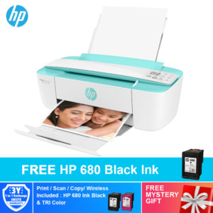 HP DeskJet Ink Advantage 3775/ 3776/ 3777 All-in-One Printer 7FM64B/ 7FM65B/ 7FM66B – Black ink bundle+Free Mystery Gift