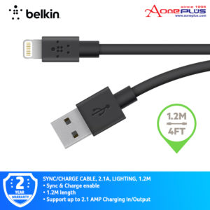 Belkin F8J023bt04-BLK MIXIT↑ Lightning to USB Charge & Sync Cable 1.2 Meter-Black