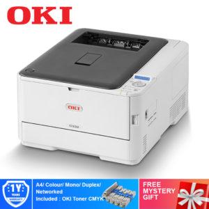 Oki C332DN A4 Colour LED Laser Printer – 46403103 + Free Mystery Gift
