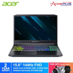 Acer Predator Triton 300 PT315-51-52PZ Gaming Laptop NH.Q6DSM.002/i5-9300H /4GB /512GB SS /Nvidia GTX 1650 4GB/15.6-INCH FHD IPS 144hz 3ms/Wifi 6 802.11ax /W10+Free Premium Gift