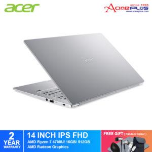Acer Swift 3 SF314-42-R4KU Notebook NX.HSESM.002 Pure Silver/AMD Ryzen 7/ 16GB/ 512GB SSD /14-Inch FHD/Win 10+Free Premium Gift
