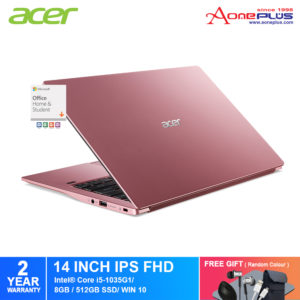 Acer Swift 3 SF314-57-50TR/ SF314-57-5549/ SF314-57-57E3 Notebook /Intel 10th Gen/ 8GB/ 512GB SSD /14-Inch FHD/Win 10/ Microsoft Office Home & Student Full Version+Free Premium GIft