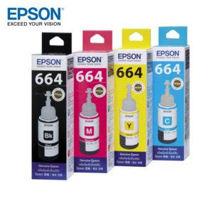Epson T664 REFILL INK FOR L120 / L210 /L220 / L360 / L1300 (CYAN [BLUE] , MAGENTA [RED] , YELLOW , BLACK)