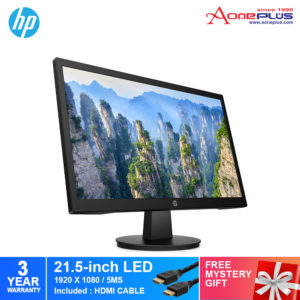 HP 21.5-Inch V22 FHD Monitor 9SV79AA+Free Mystery Gift