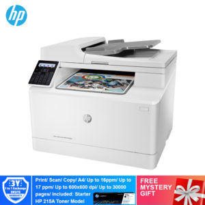 HP M183FW Color LaserJet Pro Multi Function Printer – 7KW56A [Print, Scan, Copy, Fax, Network, Wireless, ePrint, Wifi Direct]