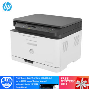 HP 178nw Color Laser Multi Function Printer – 4ZB96A [Print, Scan, Copy, Wireless, Network]