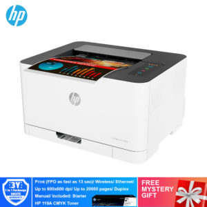 HP 150nw Color Laser Printer – 4ZB95A [Print,Network, Wireless, ePrint, Wifi Direct]