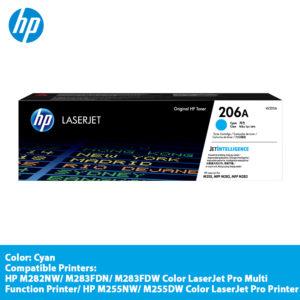 HP 206A Cyan Original LaserJet Toner Cartridge-W2111A