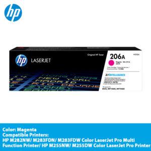 HP 206A Magenta Original LaserJet Toner Cartridge-W2113A