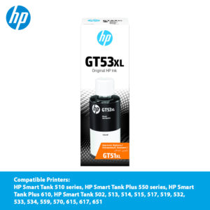 HP GT53XL Black Original Ink Bottle – 1VV21AA