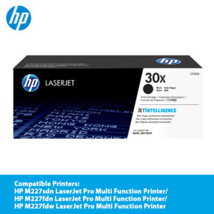 HP 30X Black LaserJet Toner Cartridge – CF230X