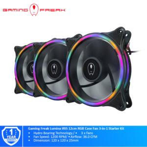 Gaming Freak Lumina IRIS 12cm RGB Case Fan 3-in-1 Starter Kit GF-IRFIX-KIT